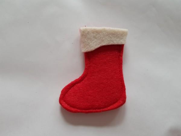Weihnachten - Wollfilz Kinder Bestecktasche in rot