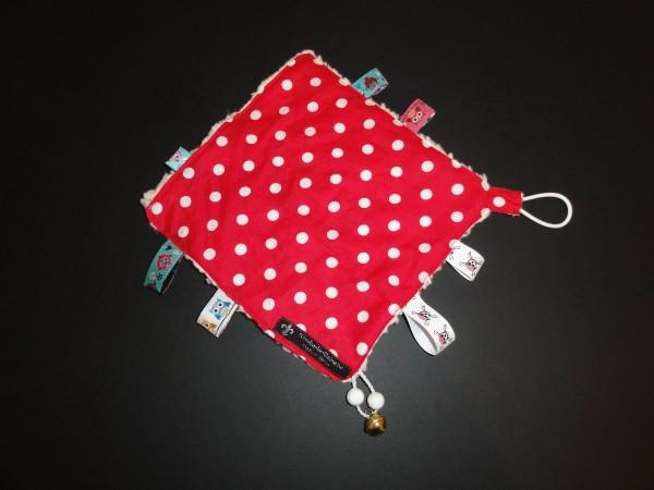 Baby Schmusetuch - Punkte in rot
