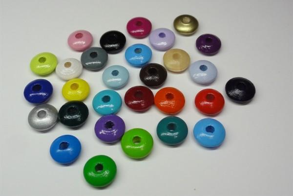 Holzlinsen - 50 Linsenperlen 10mm freie Auswahl