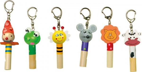 Schlüsselanhänger Flöten - versch. Tiere