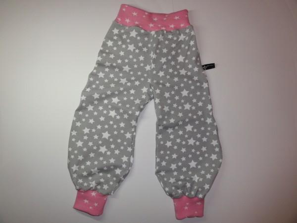 Baby Pumphose - Sterne in grau