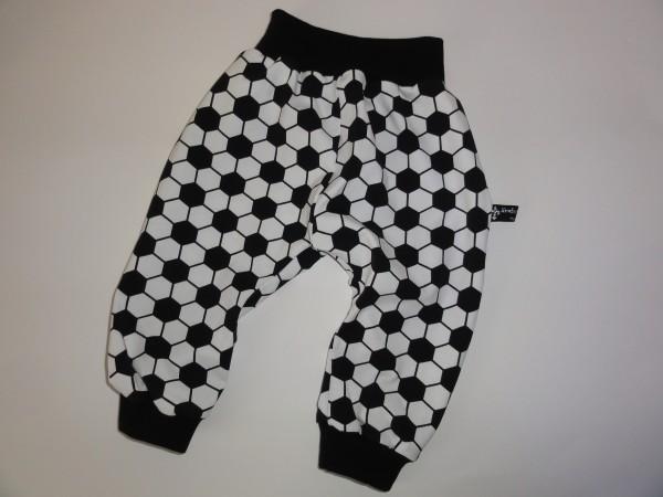 Baby Pumphose - Fußball schwarz weiß