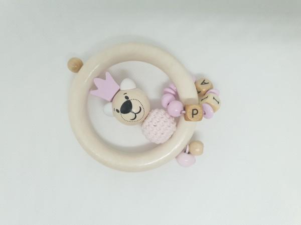 Baby Greifling ohne Namen - Bär in rosa natur