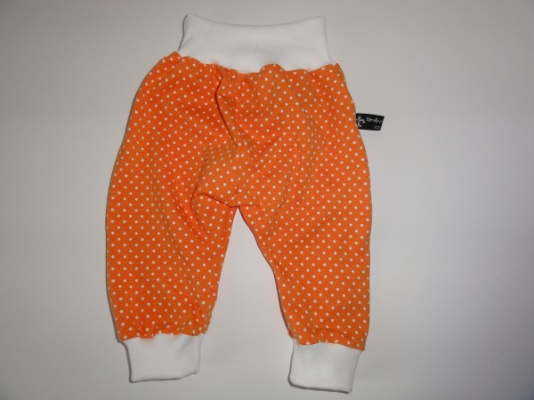 Baby Pumphose - Punkte in orange