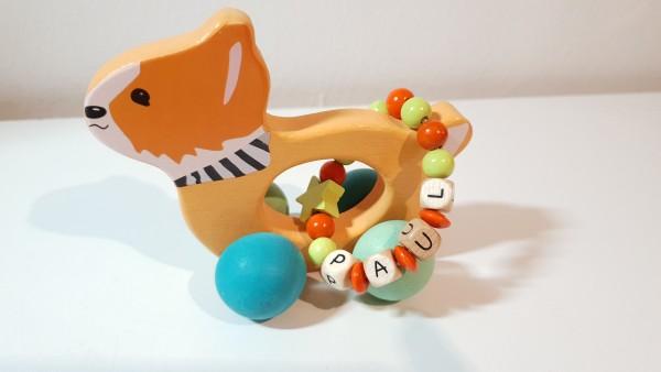 Schiebetier mit Namen - kleiner Fuchs