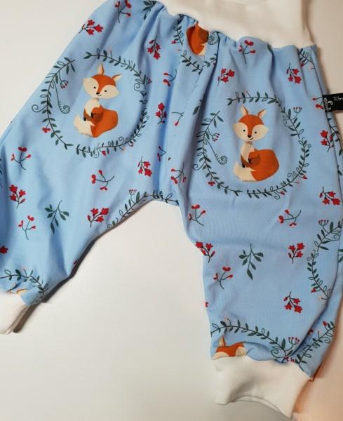 Baby Pumphose - Mitwachshose - Haremshose - Fuchs in blau