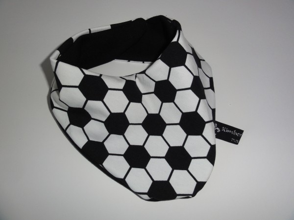 Baby Halstuch - Fußball schwarz weiß