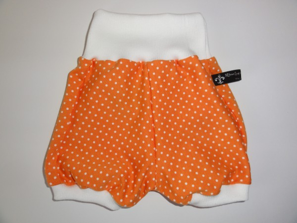 kurze Baby Pumphose - Punkte in orange