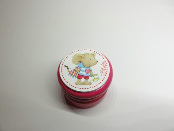"""Milchzahndose """"Lillebi"""" aus Holz in pink"""