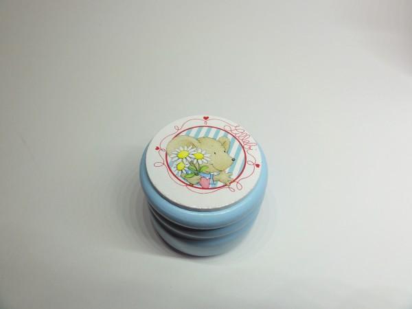 """Milchzahndose """"Lillebi"""" aus Holz in blau"""