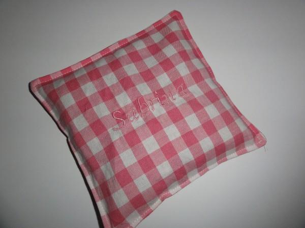 Kirschkernkissen - Kariert in rosa