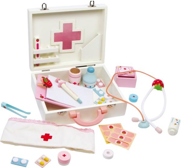 Arztkoffer - Puppenklinik aus Holz mit viel Zubehör
