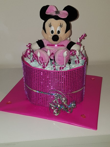 Windeltorte - Minnie Maus Glitzerband