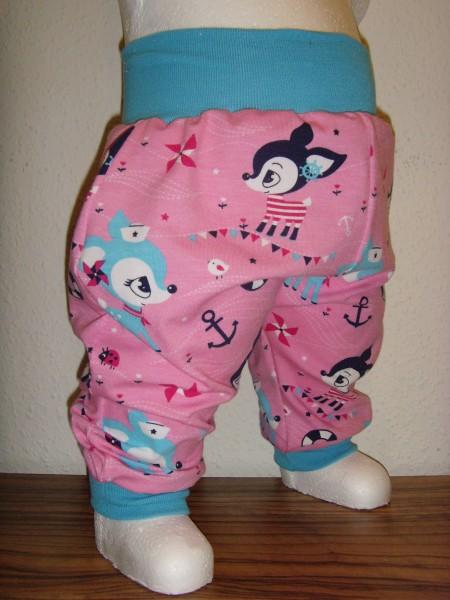 Baby Pumphose - Rehkitz in pink